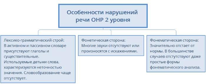 ОНР 2 уровня характеристика